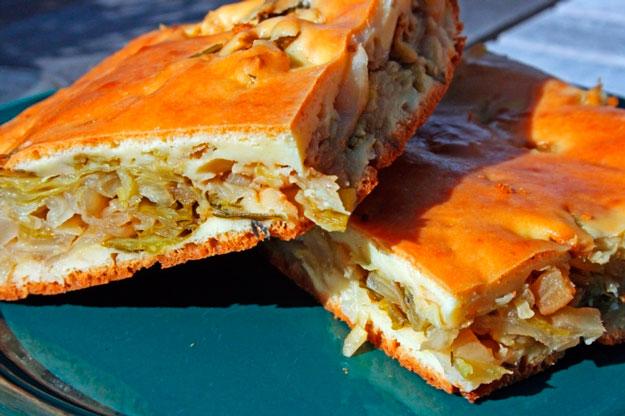 Фото рецепт пирог с капустой