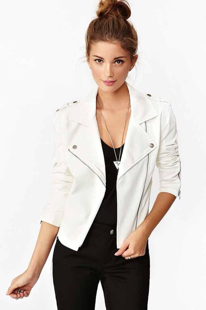 Белая кожаная куртка купить москве
